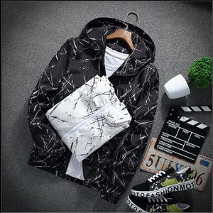 Ink splatter windbreaker