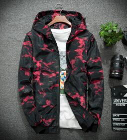 Elite camo windbreaker jacket