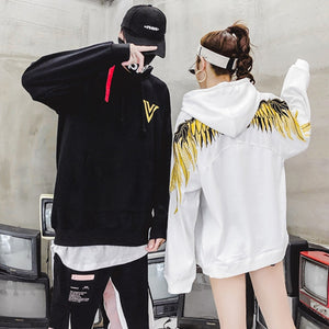 Golden feather wings hoodie