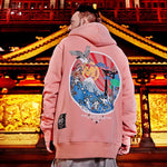 Mt Fuji Japanese style pull over hoodie