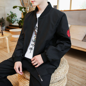 Dragon sphere bomber jacket