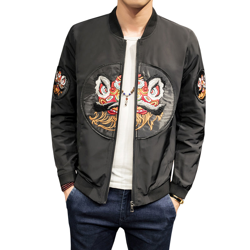 Premium ancient meets modern Chinese lion jacket