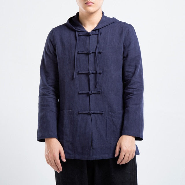 Tang linen hooded jacket