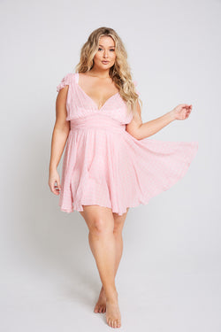 Plus Size Swimsuit Vintage Poolside Pink Houndstooth Dress ...