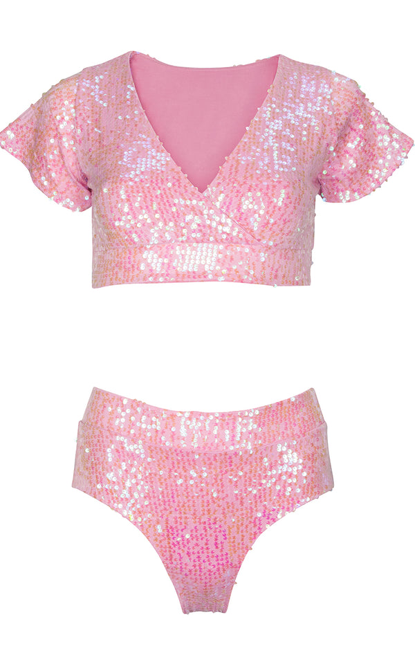 Lover Bottom in Pink Sequins