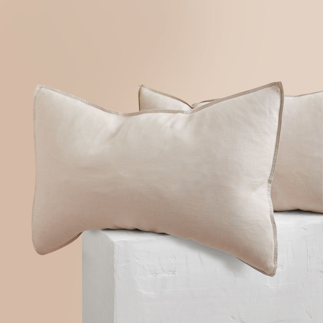 Eve Linen Pillowcases - Beige