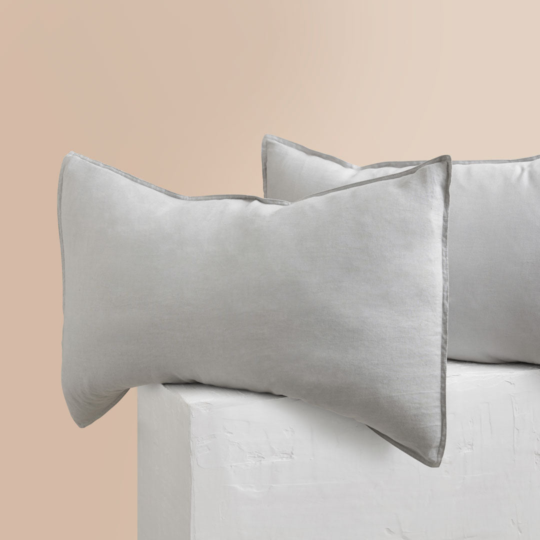 Eve Linen Pillowcases - Dove Grey