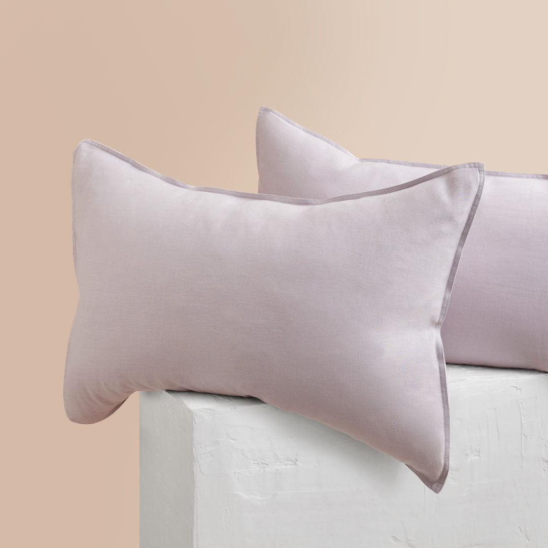 Eve Linen Pillowcases - Lilac
