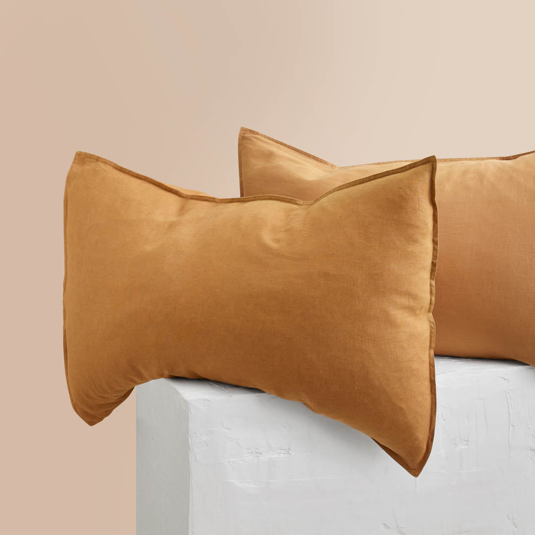 Eve Linen Pillowcases - Terracotta