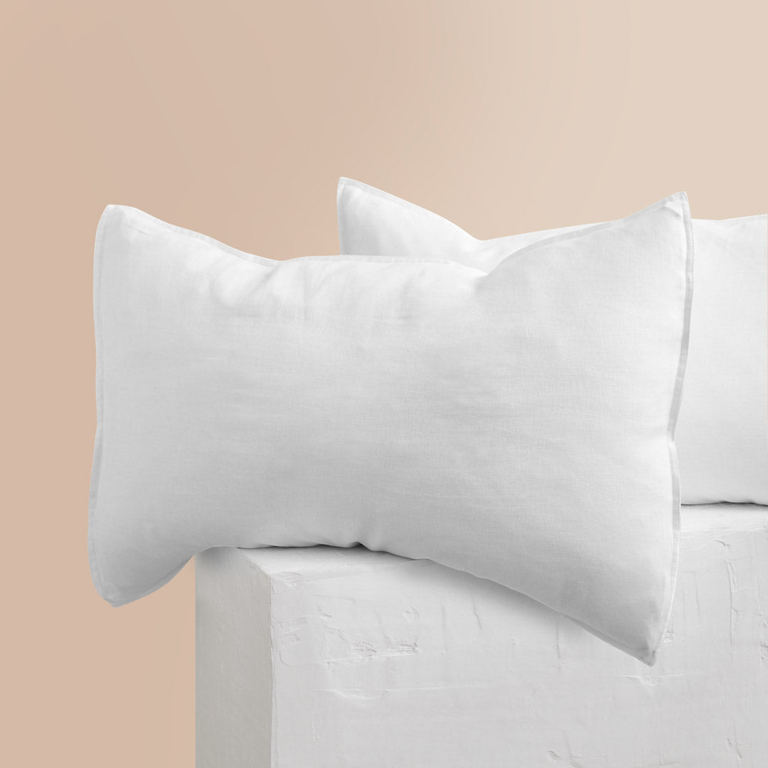Eve Linen Pillowcases - White