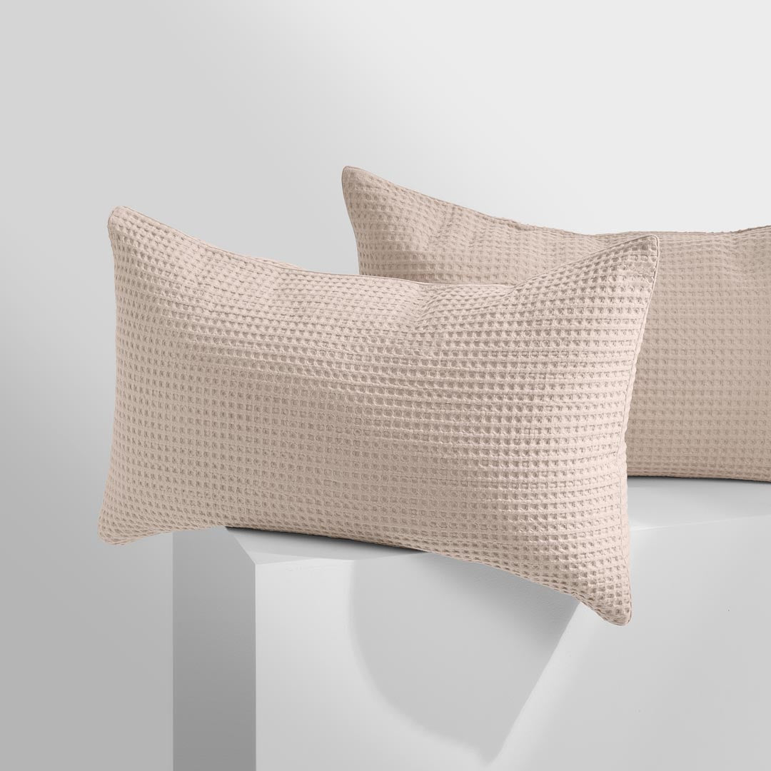 Tully Waffle Pillowcases - Beige