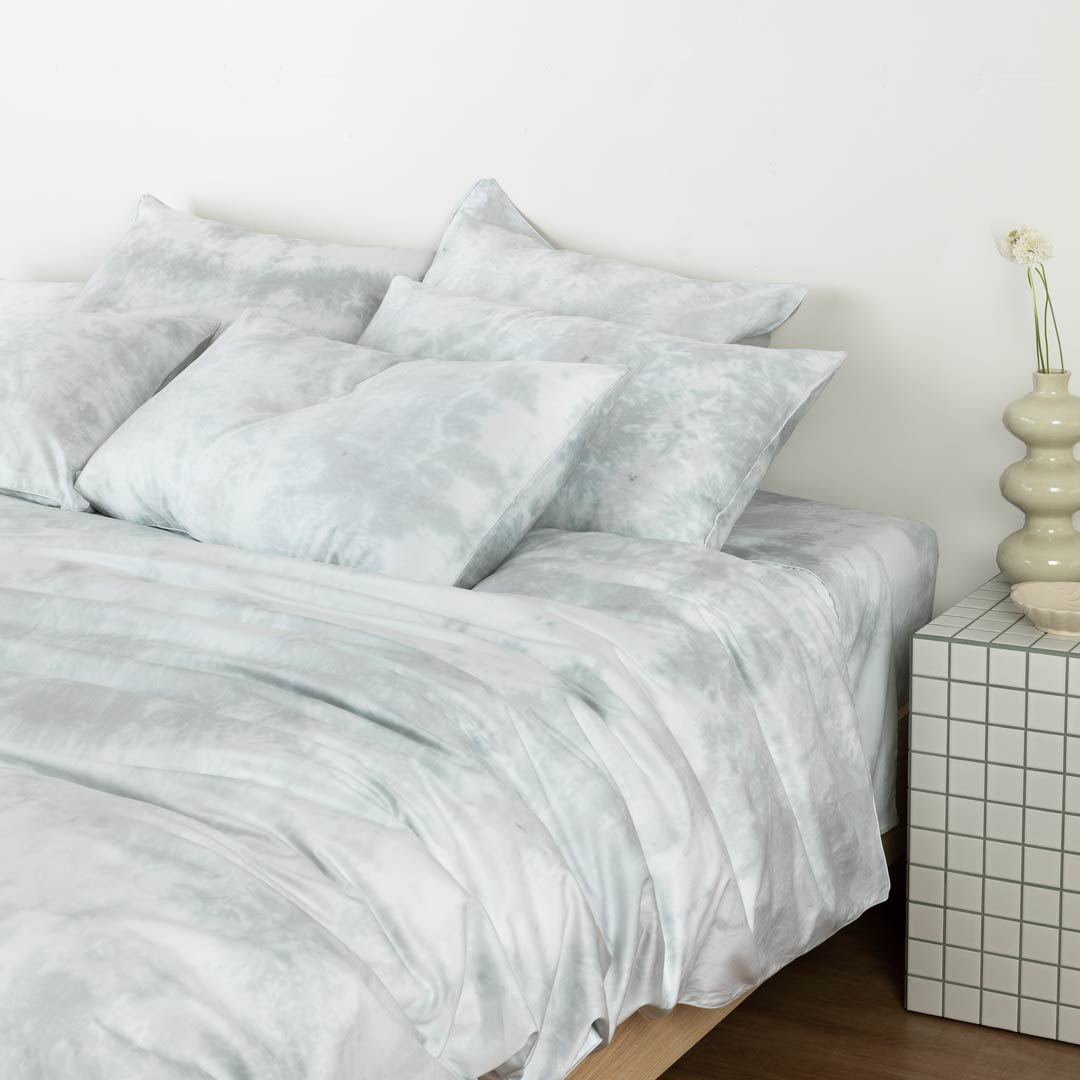 Tie-Dye Pillowcases - Dove Grey
