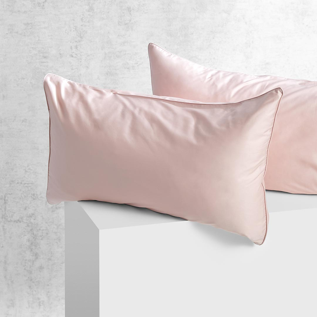 Eden Pillowcases - Blush