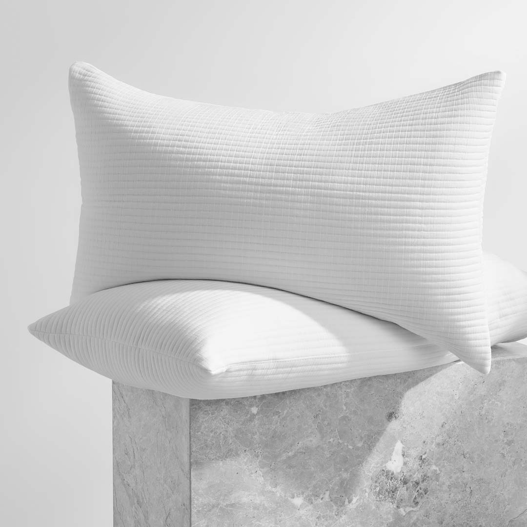 Parker Quilted Pillowcases - White