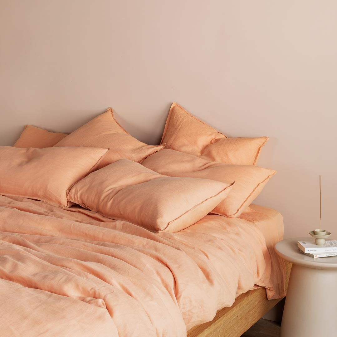 Eve Linen Pillowcases - Papaya