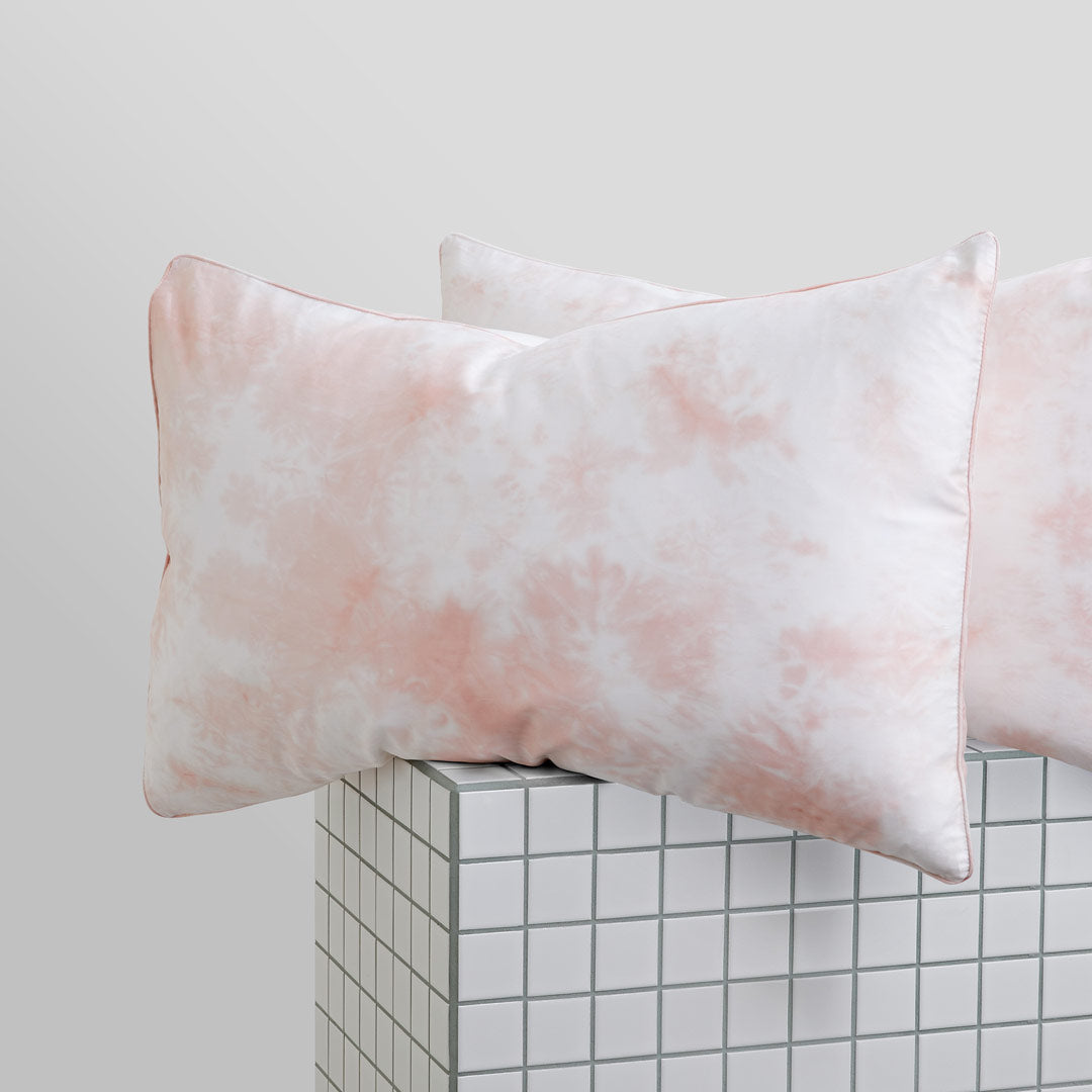 Tie-Dye Pillowcases - Peach