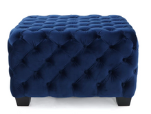 Load image into Gallery viewer, Crane Tufted Velvet Ottoman