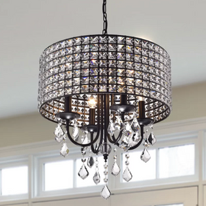 Unique Albano 4-Light Crystal Chandelier