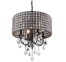 Load image into Gallery viewer, Unique Albano 4-Light Crystal Chandelier