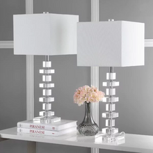 Load image into Gallery viewer, Lighting Crystal 28-inch Table Lamp (Set of 2)