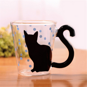 Cute Creative Cat Kitty Glass Mugs