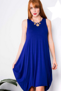 Anna Dress - Cobalt