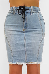 Stretchy Denim Skirt