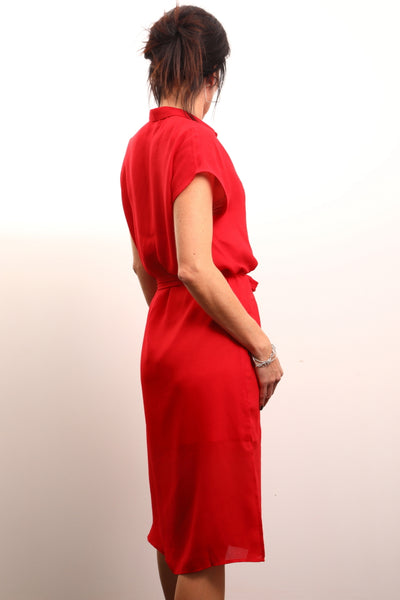 Lady in Red Live Wire Apparel Red dress Summer side split perfect for brunch dress and hot tinder date dress