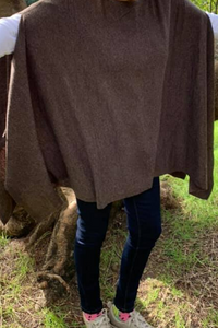 Cassidy Poncho - Coffee Colour