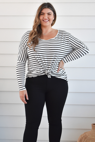 Slouch Tee - Striped