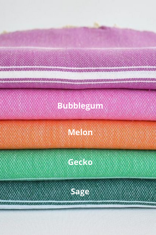 Turkish Cotton Towel - Bubblegum original