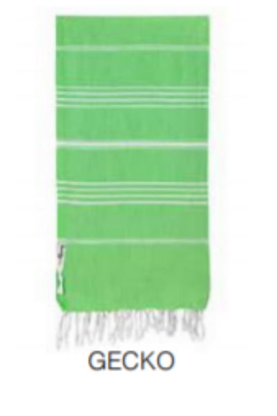 Turkish Cotton Towel - Gecko green original