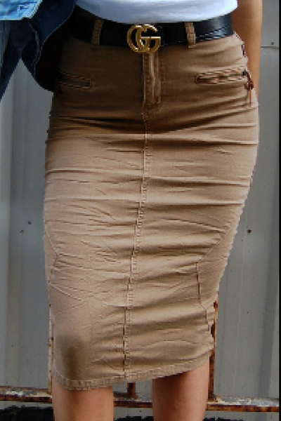 Pencil skirt - Khaki