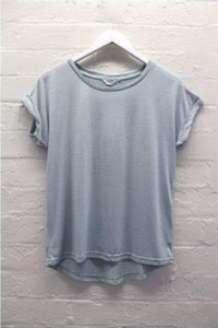 Roll Sleeve Tee in Mint (Little Lies)