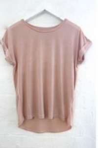 Roll Sleeve Tee in Blush (Little Lies)