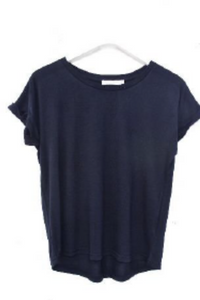 Roll Sleeve Tee in Navy (Little Lies)