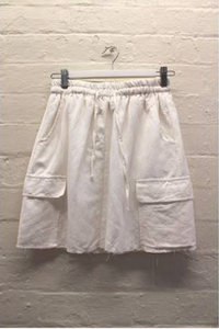 White Pocket Skirt (Little Lies)