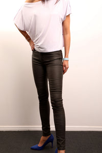 Live Wire Apparel Oil Rigger wet look stretch jeans amazing fit