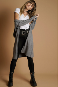 Long Cardigan - Grey