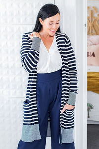 Long Cardigan - Striped