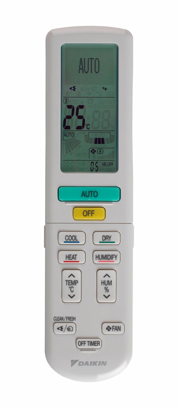 Replacement Air Conditioner Remote for Daikin : FTXZ FTXZ35N/RXZ35N ARC477A1 FTXZ25NV1B, FTXZ35NV1B, FTXZ50NV1B, US7 SERIES
