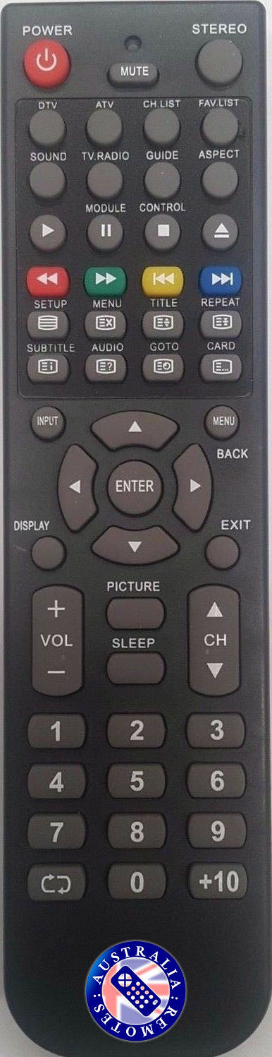 Allure AL-32LCD AL-42LCD AL-47LCD TV Remote for Allure Television