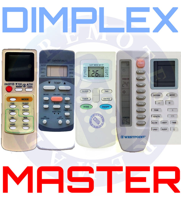 MASTER Dimplex Universal Air Conditioner Remote