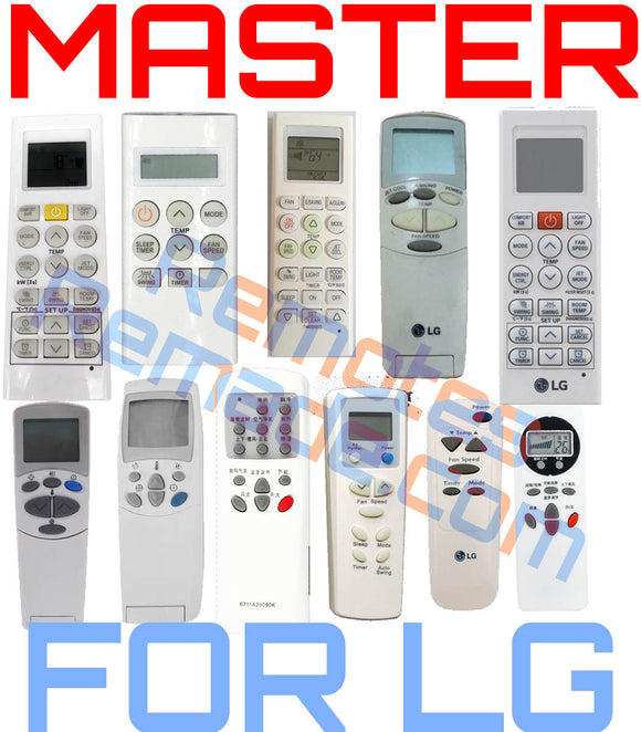 MASTER UNIVERSAL General Electric AIR CONDITIONER REMOTE