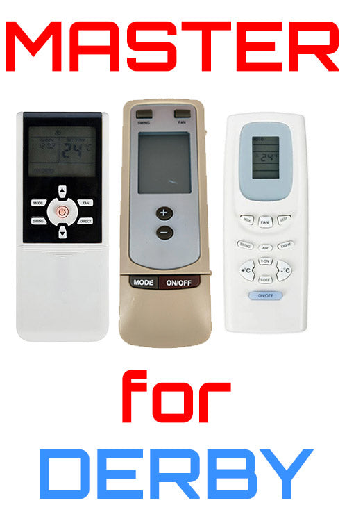 Master Universal Air Conditioner Remote for All Derby Models