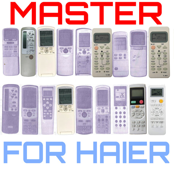 Master Universal Air Conditioner Remote - For All Haier Remotes | Master Universal Air Conditioner Remote - For All Haier Remotes | Australia Remotes | Haier, Universal Haier Remote