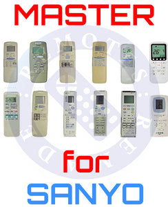 Master Universal Air Conditioner Remote for All SANYO Models | Master Universal Air Conditioner Remote for All SANYO Models | Australia Remotes | Sanyo