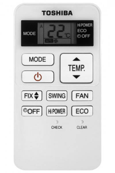 Replacement AC Remote for Toshiba - Model RAS16
