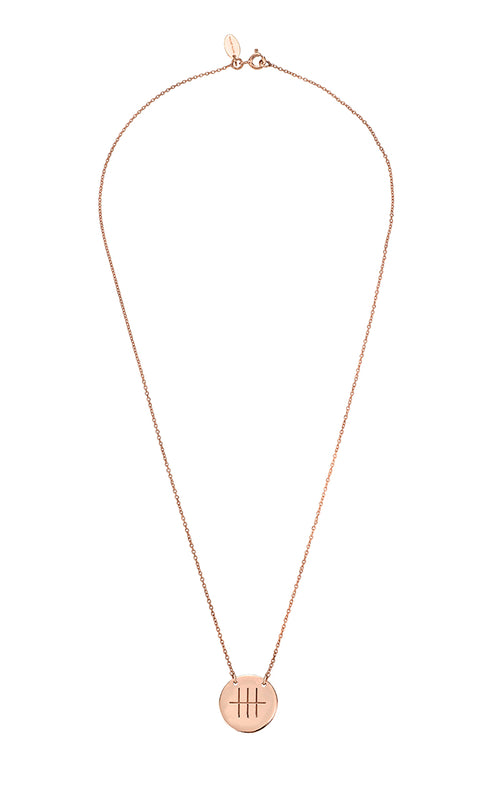 Friends Necklace Rose Gold