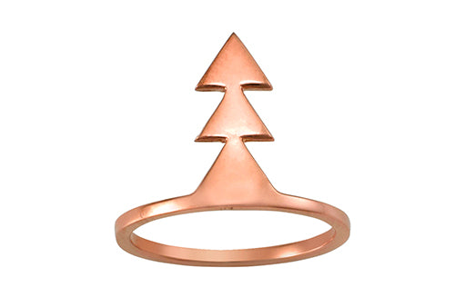Love Triangle Ring Rose Gold